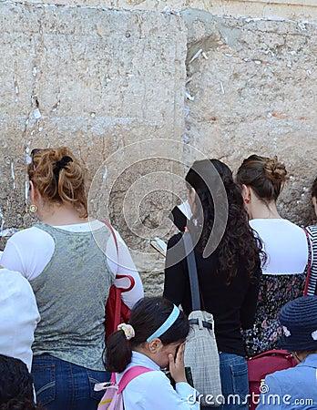 Jerusalem wailing wall Editorial Image