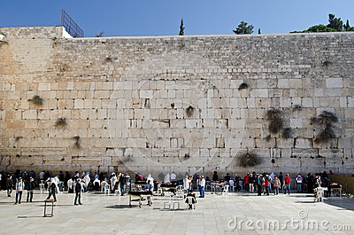 Jerusalem wailing wall Editorial Image