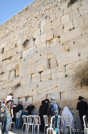 Jerusalem wailing wall Editorial Stock Image