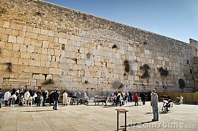 Jerusalem wailing wall Editorial Photography
