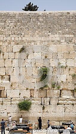 The Jerusalem wailing wall
