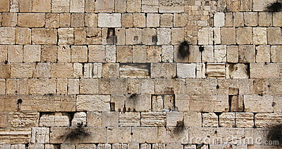 Jerusalem wailing wall - closeup
