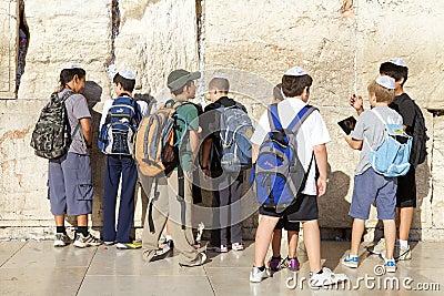 Jerusalem Western Wall Editorial Stock Image