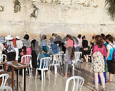 Jerusalem Western Wall Editorial Image