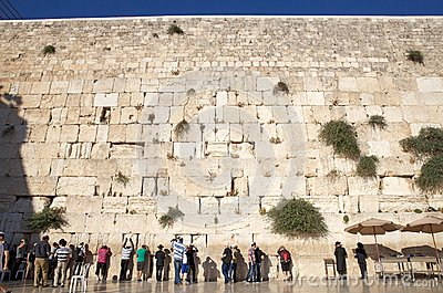 Jerusalem Western Wall Editorial Photo