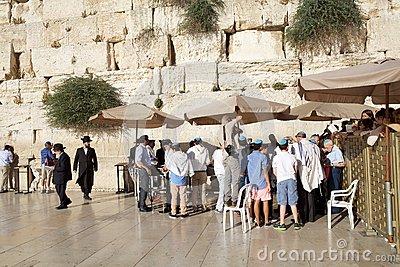 Jerusalem Western Wall Editorial Photography