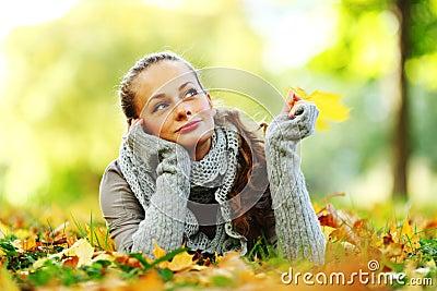 Jesień kobieta