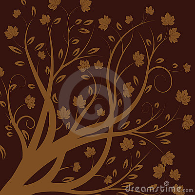 Jesienią drzewa wektora