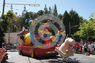 Jesse and Woody Parade at Disneyland Editorial Photography