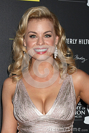 Jessica Collins arrives at the 2012 Daytime Emmy Awards Editorial Stock Image