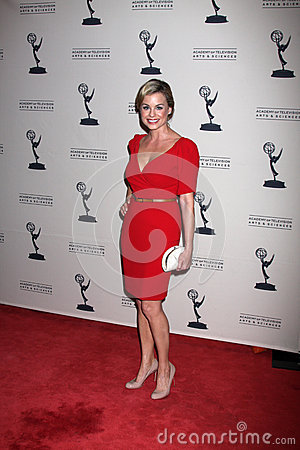 Jessica Collins arrives at the ATAS Daytime Emmy Awards Nominees Reception Editorial Image