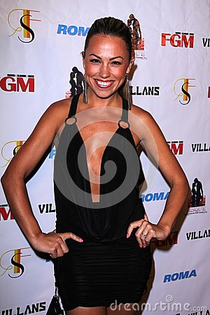 Jessica Hall at the FGM Swimsuit Issue Launch Hosted By Roma Swimwear, The Colony, Hollywood, CA 05-26-12 Editorial Stock Photo