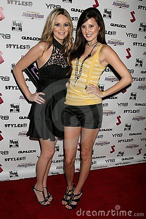 Jessica Kinni and Zoe Myers at the J.Smith Music Video Debut Premiere Party. Les Deux, Hollywood, CA. 02-25-09 Editorial Stock Image
