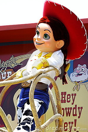Jessie in Hong Kong Disneyland Editorial Image