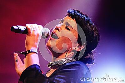 Jessie Ware, a British singer-songwriter, performs at Heineken Primavera Sound 2013 Festival Editorial Photo