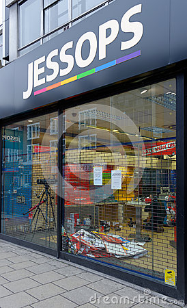 Jessops camera store closed down on High Street Putney in London Editorial Stock Image