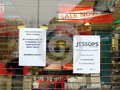 Jessops camera store closed down on High Street Putney in London Editorial Photography