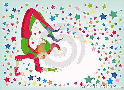 Jester-acrobat