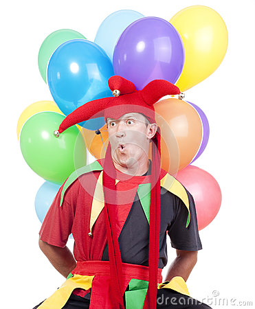 Jester With Balloons Stock Photo - Image: 25489380