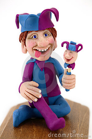 Free Jester Clay Sculpture Royalty Free Stock Images - 2340189
