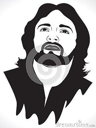 Jesus abstrakcjonistyczny artystyczny portret