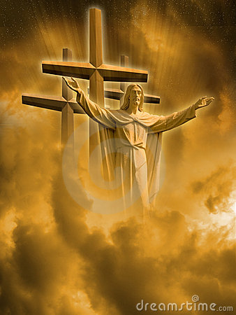 Free Jesus And Crosses Royalty Free Stock Photo - 3938685