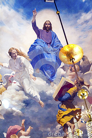 Free Jesus Angels Painting Church Saint Nicholas Kiev Ukraine Stock Photos - 65317803