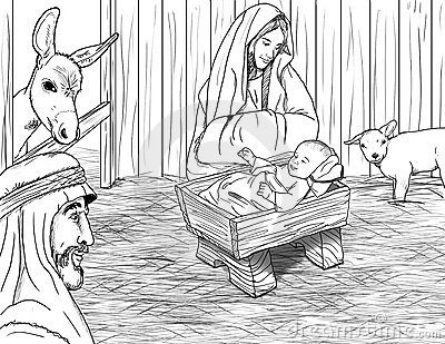 Jesus Born In Manger