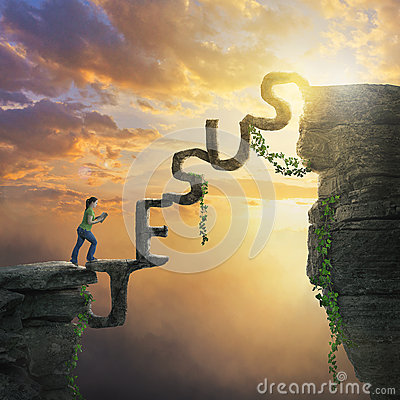 jesus bridge between cliffs stock photo image 70835156 business woman clipart silhouette free clipart businesswoman