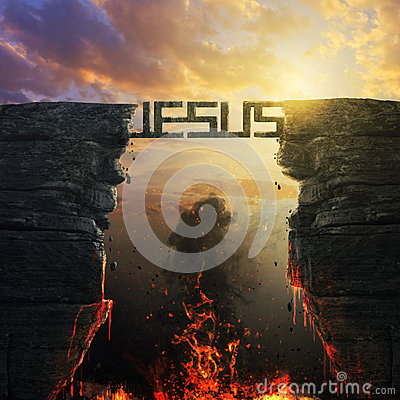 Free Jesus Bridge Over Fire Royalty Free Stock Photo - 69994595