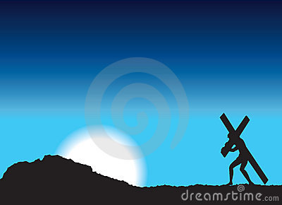 Jesus carries cross
