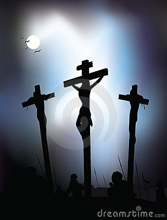 Jesus Christ - Crucifixion. Vector Illustration.