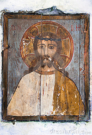 Jesus Christ icon painted on wood