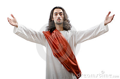 Jesus Christ personifacation isolated