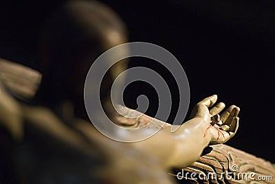 Jesus Christ s hand.