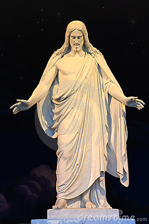 Jesus christ statue,salt lake city