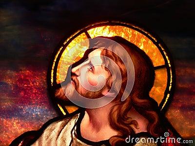 Jesus contemplating