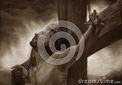 Jesus on the cross calvary