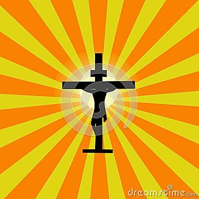 Jesus Cross Sunburst