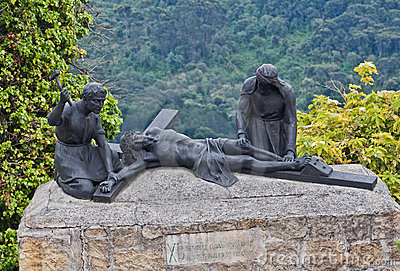 Jesus Crucified Sculpture Monserrate Hill Bogota