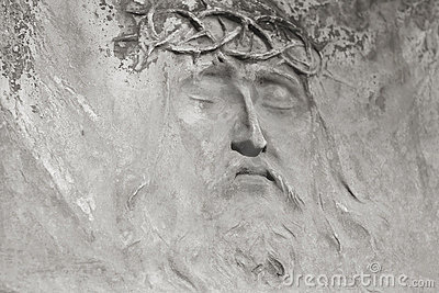 Jesus face from the tombstone