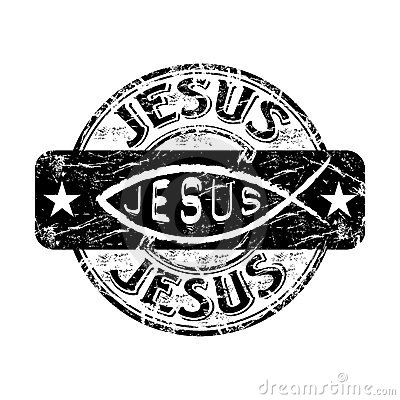Jesus fish rubber stamp