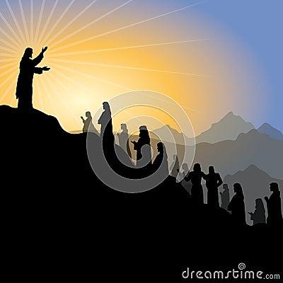 Jesus giving sermon