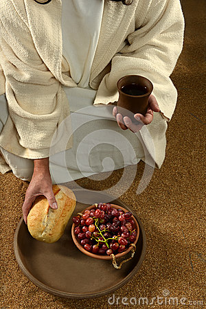 JEsus Hands Holding Communion