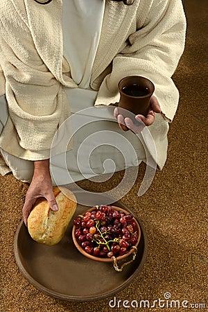 JEsus Hands Holding Communion