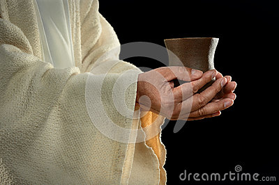 Jesus Hands Holding Cup