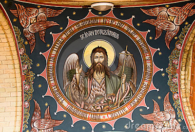 Jesus image on church ceiling