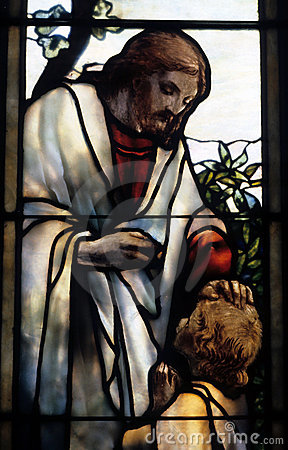 Free Jesus In Glass Royalty Free Stock Images - 4968469
