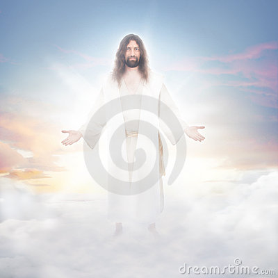 Free Jesus In The Clouds Royalty Free Stock Image - 19920906