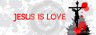 Jesus Is Love- Timeline Cover Stock Vector - Image: 60572511